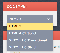 CSS Layout doctype setting