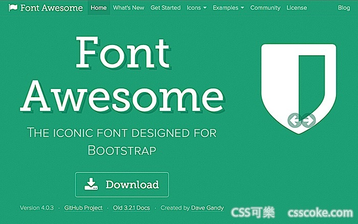 icon font - FontAwesome font